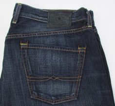 Men Lucky Brand 181 Jeans Relaxed Straight Leg Classic Rise Dark Wash sz 40 X 30…