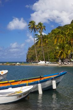 Boats in the harbor at Marigot Bay, St. Lucia, West Indies