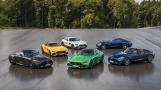 designboom tests mercedes-AMG GT family on race track in germany New Sports Cars, Sport Cars, Mercedes Amg Gt S, Best Classic Cars, Small Cars, Amazing Cars, Racing, Track, Car Videos