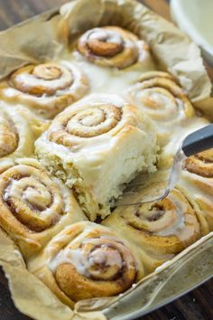Quick 45 Minute Cinnamon Rolls.  Made these this morning and they were yummy!