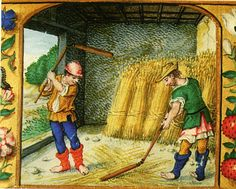 "The Parable of the Cockle (or ""Tares"") among the Wheat Medieval Life, Medieval Fashion, Medieval Clothing, Medieval Art, Medieval Manuscript, Illuminated Manuscript, St Martin Of Tours, Renaissance, Classical Antiquity"