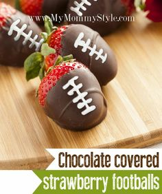 Chocolate Covered Strawberry Footballs More