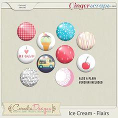 Ice Cream - Flairs by Cornelia Designs