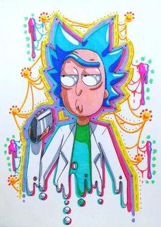 Rick Sanchez by Swag Cartoon, Cartoon Art, Rick Sanchez Costume, Ricky Y Morty, Rick And Morty Drawing, Rick And Morty Stickers, Rick And Morty Poster, Simple Artwork, Arte Obscura