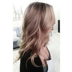 Instagram.com/merrgg Blonde sombre balayage highlights beige waves beachy long