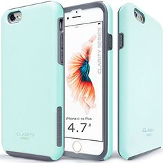 """iPhone 6S Case, TEAM LUXURY® [Clarity Series] **NEW** Vibrant blue [Slim-fit] Hybrid Armor Case [Dual-Layer] [Shock Absorbing Technology] Premium Protective Case for Apple iPhone 6 (2014) / 6S (2015) """"4.7-Inch"""" (Vibrant blue/ Gray) TEAM LUXURY http://www.amazon.com/dp/B00V856N66/ref=cm_sw_r_pi_dp_isifwb02R146Y"""