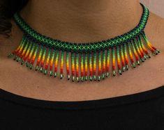 Beaded Earrings Patterns, Beaded Choker, Beading Patterns, Beaded Bracelets, Jewelry Crafts, Handmade Jewelry, Nylons, Seed Bead Jewelry, Seed Beads