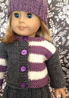 Ravelry: Wee Gingersnap for dolly pattern by Kristen Rettig Knitting Dolls Clothes, Crochet Doll Clothes, Knitted Dolls, Doll Clothes Patterns, Girl Doll Clothes, Girl Dolls, Sewing Toys, Doll Patterns, Crochet Baby Cardigan