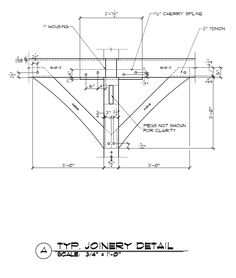 Timber Frame Spline Connection Detail with Two Knee Braces - Timber Frame Construction Details