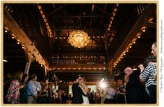 First dance at The Roxbury Barn, in the New York Catskills.  We're loving our new chandelier! #barnwedding #firstdance #weddinglights