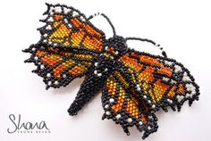Monarch Butterfly, designed by Huib Petersen and beaded by Shona Bevan