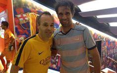 Iniesta y Valerón intercambiaron sus camisetas tras el Barça- UD Las Palmas