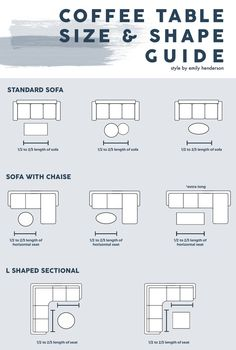 furniture arrangement Coffee Table Size And Shape Guide Coffee Table Size, Cool Coffee Tables, Coffee Tables For Sectionals, Sectional Coffee Table, L Shaped Couch Coffee Table, Coffee Table Or Ottoman, Coffee Table For Small Living Room, Coffee Table With Seating, Coffee Table Length