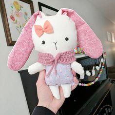 Mini Loppy Bunnies Handmade Doll Bunny Doll Easter Bunny