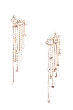 Rue Gembon Bahira Gold Star Motif Chain Delicate Earjacket
