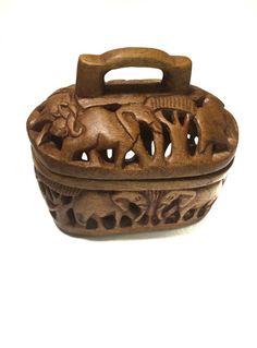 Vintage Carved Wood African Safari Bread by VintageFunkHouser