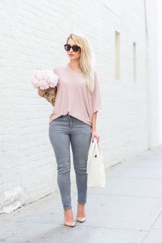 Casual outfit perfect for running weekend errands, when you still want to look put together without resorting to leggings or sweatpants.