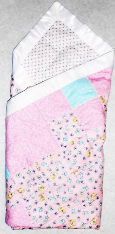 Baby Girl Quilt: Patchwork Receiving by QuiltsHerbsGiftsDAHW