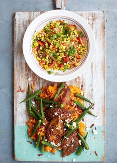 Spicy Cajun Chicken with Smashed Sweet Potato & Fresh Corn Salsa | Jamie's 15 minute meals