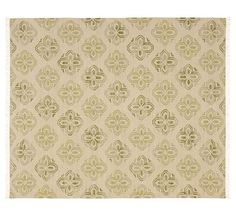 New Pottery Barn Alhambra Tile Dhurrie Rug Green 3x5 | eBay