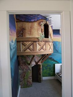 I would love to have a house where I could put something like this in my girls room!!!