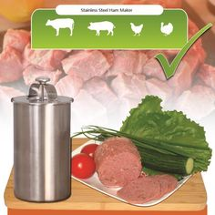 [Visit to Buy] 1 Liter Stainless Steel Ham Maker / Ham Meat Rolling Machine With a Thermometer Ham Boiler Meat Pot Pan Pressure Ham Cooker  #Advertisement