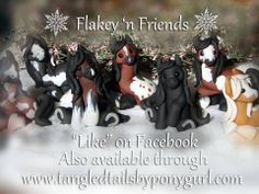 polymer clay pony / ponies / horse / by Flakey 'n Friends