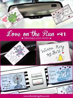 Printable Car Love Notes