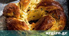 Τσουρέκι με πορτοκάλι από την Αργυρώ Μπαρμπαρίγου   Γιορτινό τσουρέκι γεμάτο αρώματα, γεμιστό με σταφίδες, φρούτα και φιστίκι Αιγίνης. Τέλειο για πρωινό!