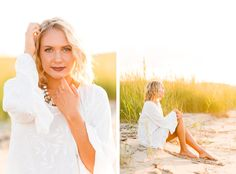 Maddie's Hippy Senior Session by the Chesapeake Bay, MD - Brooke Michelle…