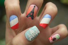 Париж) Nail Art # маникюр # ногти # nails # nail # дизайн ногтей # гель лак # гель # гелевые ногти # шеллак…»