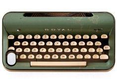 Vintage Typewriter iPhone Case // 20 Retro iPhone Covers