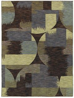 """Area Rug """"Volos"""" color Brown - Flooring by Shaw - new take on geometric style with blurred lines"""