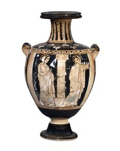 Red-figured water jar (hydria), attributed to the Lipari Painter. Greek, about BC. Made on Sicily or Lipari, Italy. Ancient Greek Art, Ancient Greece, Ancient History, Art History, Classical Greece, Greek Pottery, Greek Culture, Minoan, Italian Art