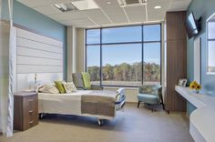 St. Mary's Good Samaritan Hospital in Greensboro, Ga., designed by HKS in conjunction with Earl Architects, was completed in December 2013. The 25-bed critical access hospital features all private inpatient rooms and incorporates generous natural daylighting and views of nature. Credit: Scott Wang Photography.