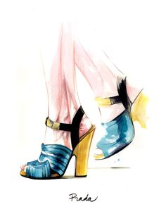 Illustrations: Mia Dumont #illustration #shoes #fashion