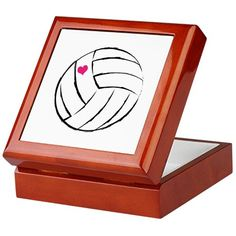 volleyball- heart Keepsake Box by VolleyGirlz - CafePress Volleyball Players, Box Design, Keepsake Boxes, House Painting, Presents, Decor Ideas, Heart, Awesome, Gifts