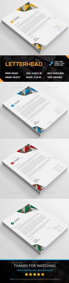 Abstract letterhead pad template letterhead ai illustrator and abstract letterhead pad template letterhead ai illustrator and stationery printing spiritdancerdesigns Gallery