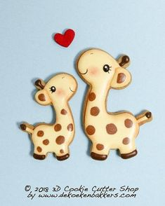 Our new Giraffe cutter: perfect for Valentine's day (I long for you...) ánd also cute for Baby shower cookies. Have a wonderful week! ❤ . . . #3dcookiecuttershop #dekoekenbakkers #valentinesday #decoratedsugarcookie