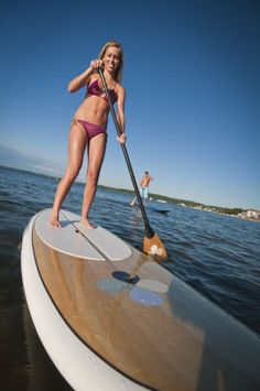 Paddle Boarding Rocks~Outdoor Recreation - Traverse City