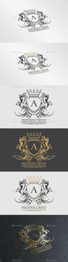 Phoenix Crest Logo Template #design #logotype Download: http://graphicriver.net/item/phoenix-crest-logo/10718367?ref=ksioks