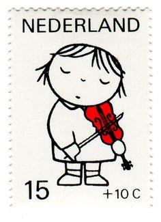 1969 Kinderzegels - Netherlands Postage Stamp: Dick Bruna, violin