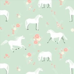 Kinderkamer behang paarden #kidswallpaper #horses | Perron 11 Kidsroom, Girl Room, Room Inspiration, Toddler Girl, Wallpaper, Illustration, Pattern, Handmade, Design