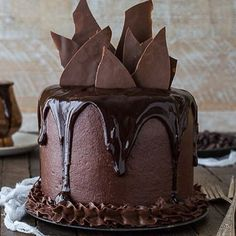 Holy ish, this Chocolate Cake is the bomb by @beth_thefirstyear❤️I need this for Valentine's Day. Tag your best friend, they deserve this. #thechocolatecorner #allthingschocolate ❤️❤️❤️❤️❤️❤️