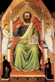 Puccio di Simone - Trittico (particolare) - c. 1355 - tempera e oro su tavola - Galleria dell'Accademia, Firenze