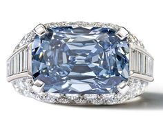 The World's Most Expensive Blue Diamond is Set in a Bulgari #Luxury #Jewelry