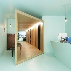 bonne idée de redéfinir et aménager ce couloir en bois bonne inspiration