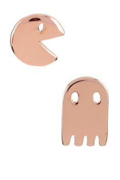 Pacman Stud Earrings