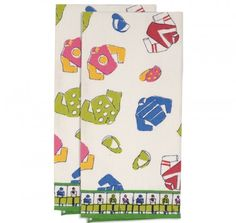 Starting Gate Tea Towels (set of 2)  more girly w pinks