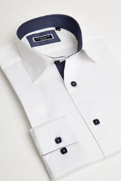 White italian dress shirt for men by Franck Michel